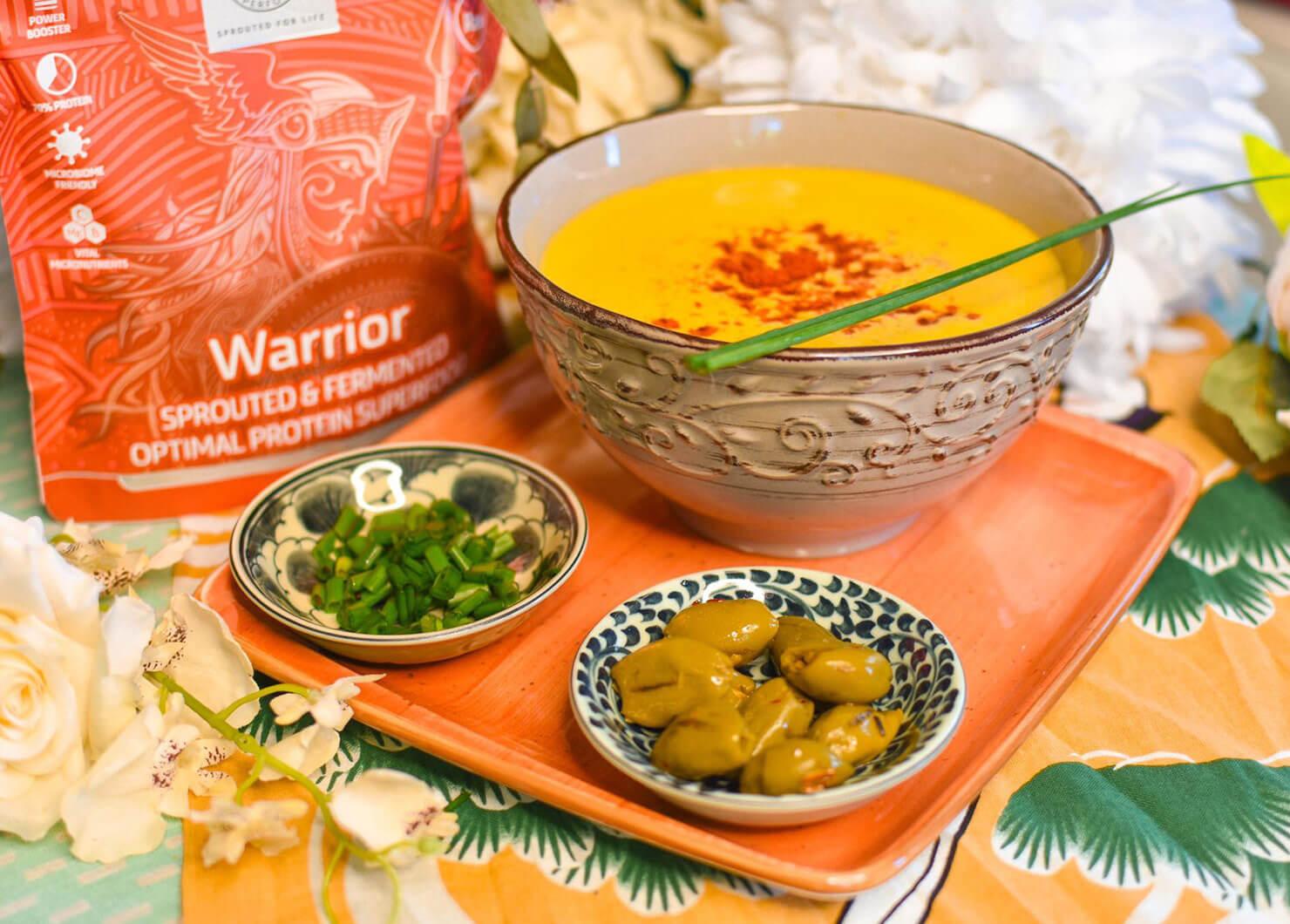 Сурова морковена протеинова супа с Warrior